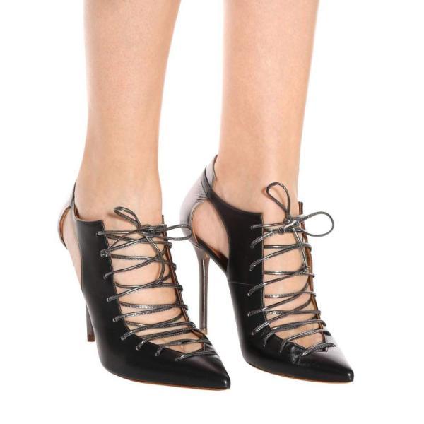マローンスリアーズ レディース ブーツ シューズ・靴 Montana 100 leather ankle boots Black/Black/Charcoal