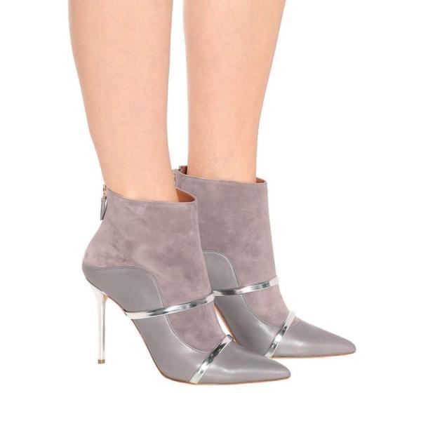 マローンスリアーズ Malone Souliers by Roy Luwolt レディース ブーツ シューズ・靴 Madison 100 suede ankle boots Grey