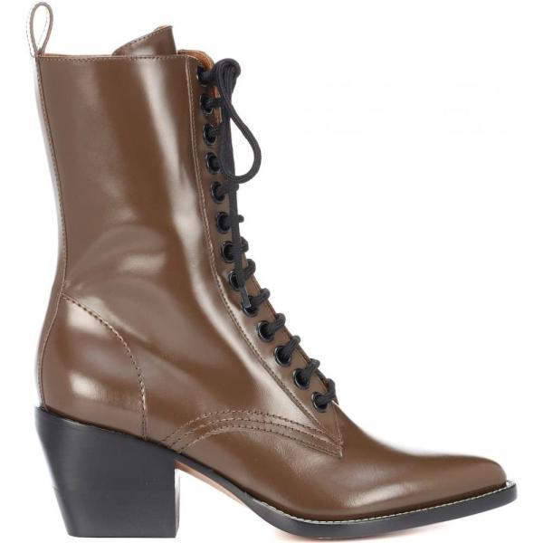 クロエ レディース ブーツ シューズ・靴 Rylee Medium leather ankle boots Cacao Brown