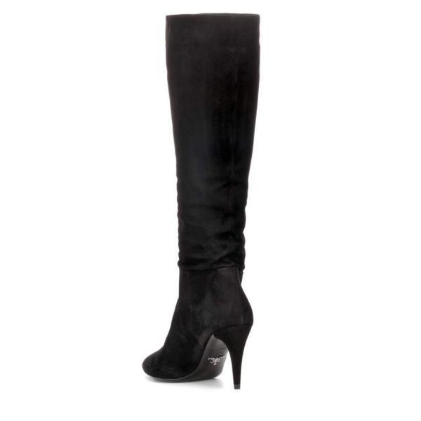 プラダ Prada レディース ブーツ シューズ・靴 Suede boots Black