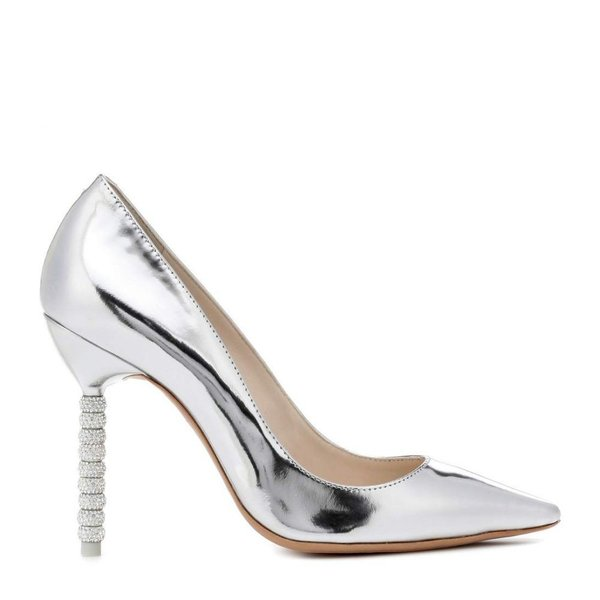 ソフィア ウェブスター Sophia Webster レディース パンプス シューズ・靴 Coco crystal-embellished leather pumps Silver