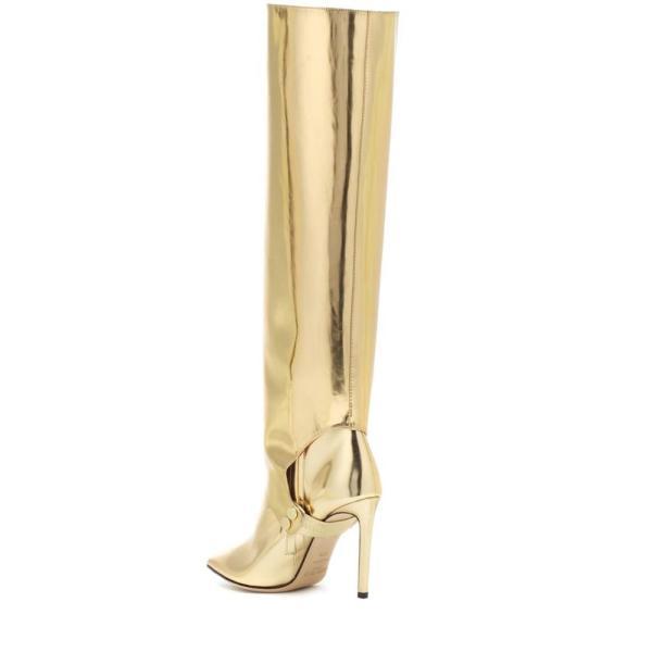 ジミー チュウ Jimmy Choo レディース ブーツ シューズ・靴 Hurley 100 two-piece knee-high boots Gold
