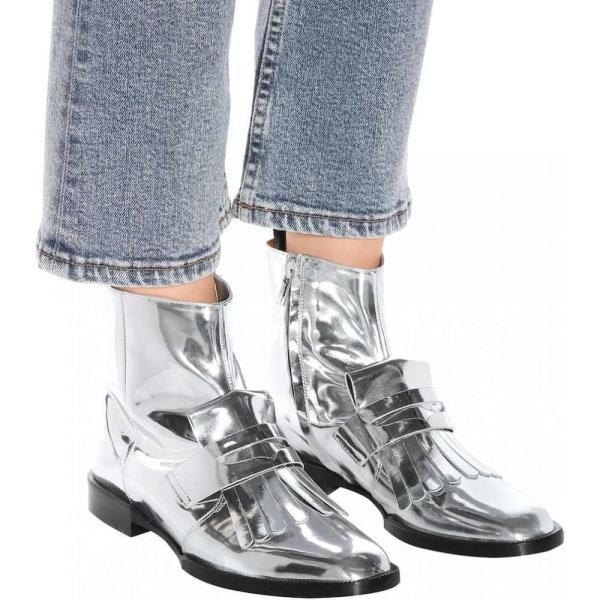 ロベール クレジュリー Clergerie レディース ブーツ シューズ・靴 Yousc leather ankle boots Silver