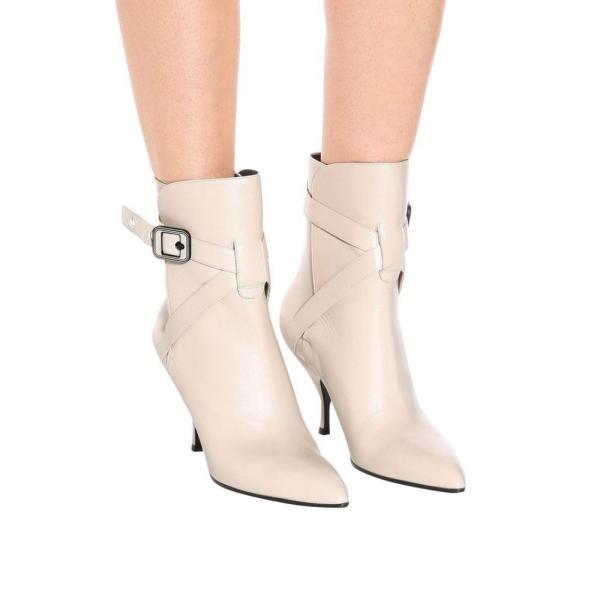 ボッテガ ヴェネタ Bottega Veneta レディース ブーツ シューズ・靴 Moodec leather ankle boots Mist