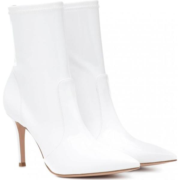 ジャンヴィト ロッシ Gianvito Rossi レディース ブーツ シューズ・靴 Imogen vinyl ankle boots White