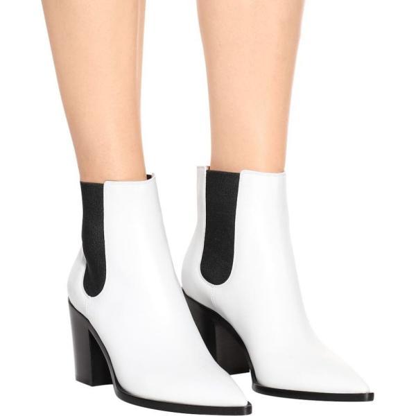 ジャンヴィト ロッシ Gianvito Rossi レディース ブーツ シューズ・靴 Austin leather Chelsea boots White