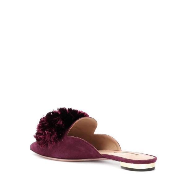 アクアズーラ Aquazzura レディース スリッパ シューズ・靴 Powder Puff suede slippers Mulberry