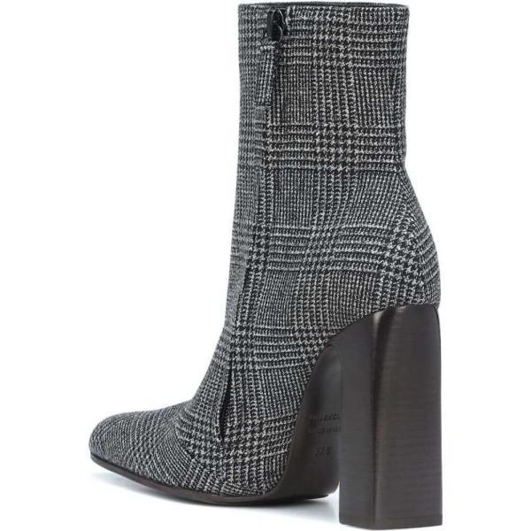 バレンシアガ Balenciaga レディース ブーツ シューズ・靴 Checked wool ankle boots Noir Blanc