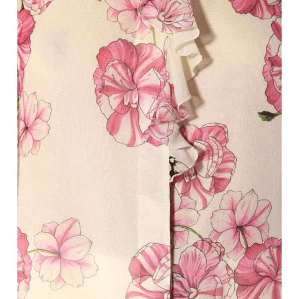 ジャンバティスタ バリ Giambattista Valli レディース トップス Floral-printed silk top Ivoire-Peony Rose