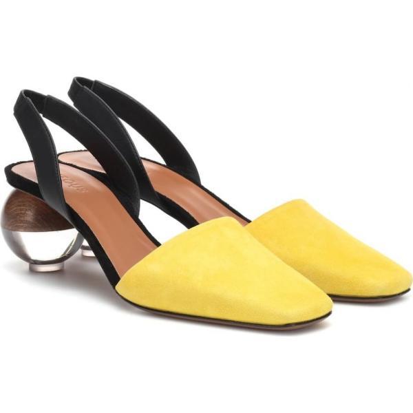 ネオアス Neous レディース パンプス シューズ・靴 Lancastella suede slingback pumps Yellow Black