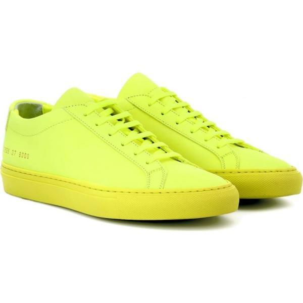 コモン プロジェクト Common Projects レディース スニーカー シューズ・靴 Original Achilles Low suede sneakers neon yellow