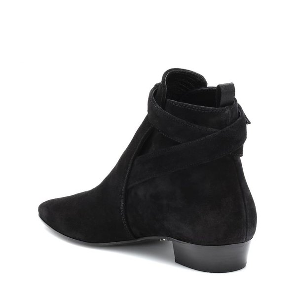 ミュウミュウ Miu Miu レディース ブーツ シューズ・靴 Suede ankle boots Nero