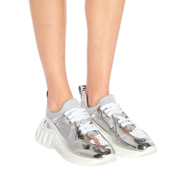 ミュウミュウ Miu Miu レディース スニーカー シューズ・靴 Metallic sneakers Argento