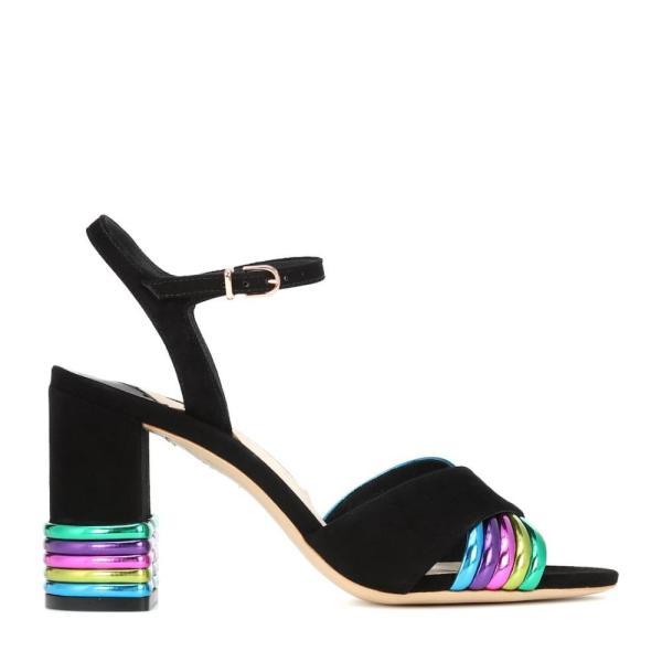 ソフィア ウェブスター Sophia Webster レディース サンダル・ミュール シューズ・靴 Joy leather and suede sandals Black & Multi