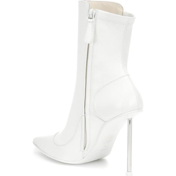 アレキサンダー マックイーン Alexander McQueen レディース ブーツ シューズ・靴 Victorian leather ankle boots Ivo Ivo Ivo Silver