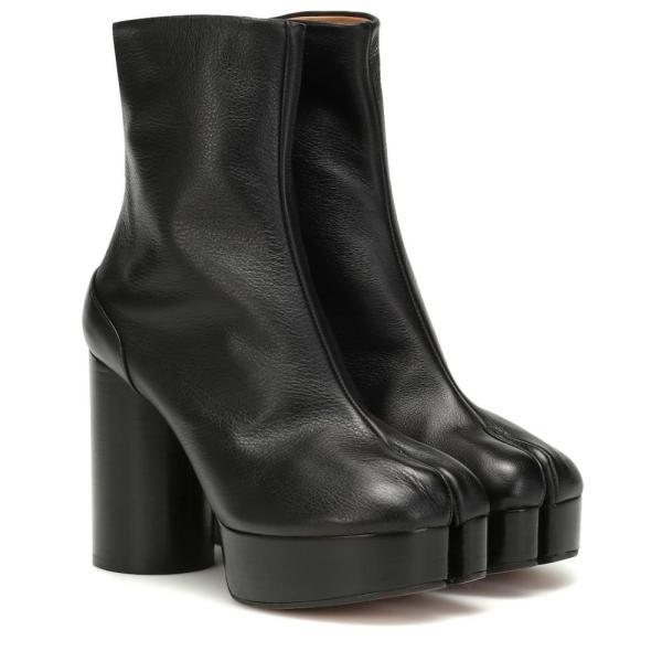 メゾン マルジェラ Maison Margiela レディース ブーツ シューズ・靴 Tabi platform leather boots