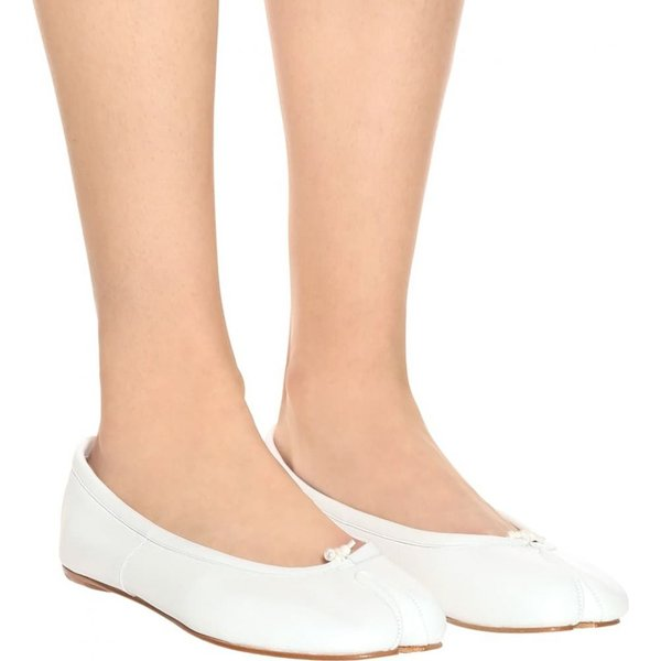 メゾン マルジェラ Maison Margiela レディース スリッポン・フラット シューズ・靴 Tabi leather ballerinas
