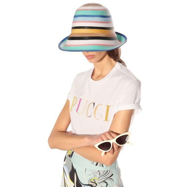エミリオ プッチ Emilio Pucci レディース 帽子 Striped hat multicolor blu