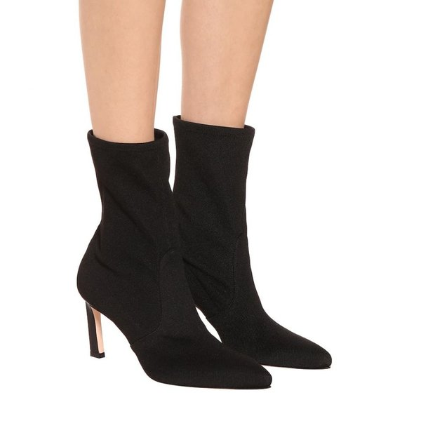 スチュアート ワイツマン Stuart Weitzman レディース ブーツ シューズ・靴 Rapture 75 ankle boots Black Canvas