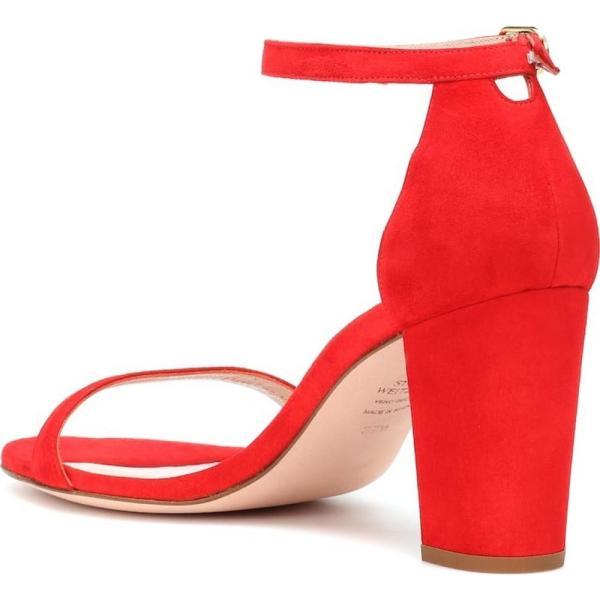 スチュアート ワイツマン Stuart Weitzman レディース サンダル・ミュール シューズ・靴 Nearlynude suede sandals Follow me red