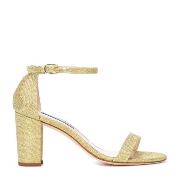 スチュアート ワイツマン Stuart Weitzman レディース サンダル・ミュール シューズ・靴 Nearlynude metallic sandals Gold