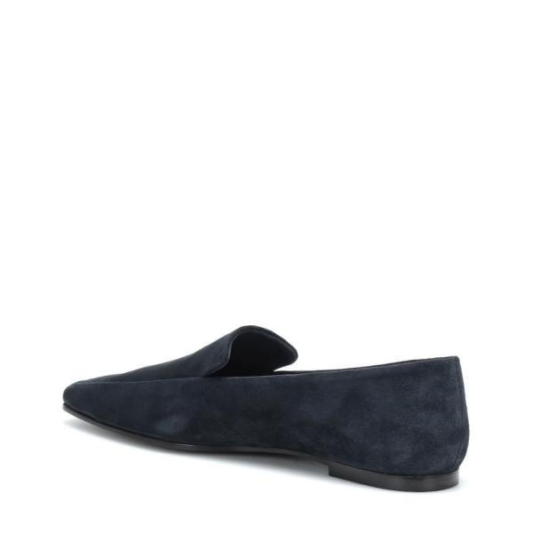 ザ ロウ The Row レディース ローファー・オックスフォード シューズ・靴 Minimal suede loafers Slate Blue