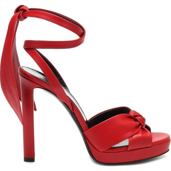 イヴ サンローラン Saint Laurent レディース サンダル・ミュール シューズ・靴 Hall 105 leather sandals rouge eros