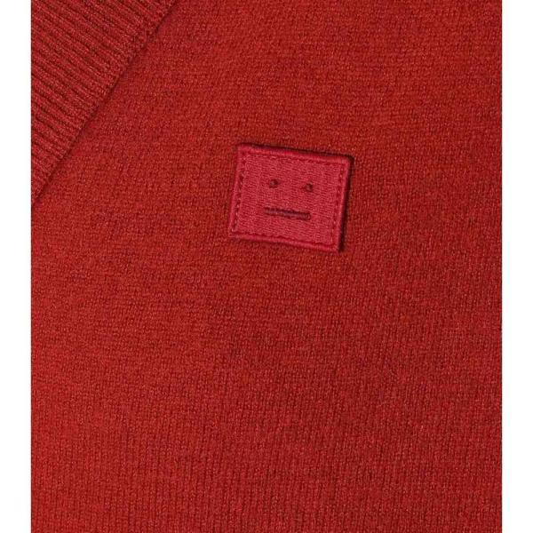 アクネ ストゥディオズ Acne Studios レディース カーディガン トップス Face wool cardigan brick red