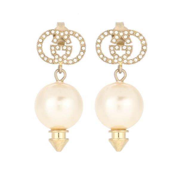 グッチ Gucci レディース イヤリング・ピアス ジュエリー・アクセサリー GG crystal-embellished earrings