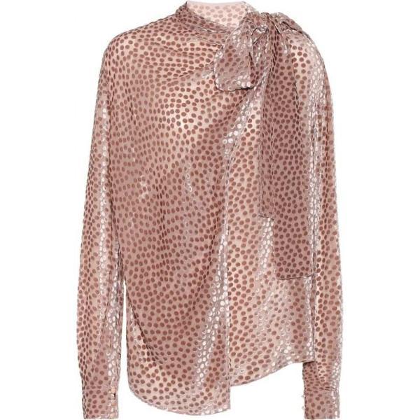 ペーター ペトロフ Petar Petrov レディース ブラウス・シャツ トップス Baxley flocked velvet silk-blend blouse rosedust