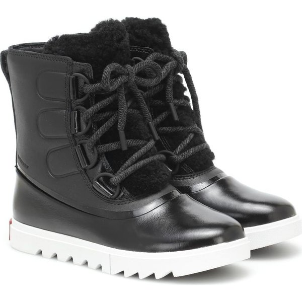 ソレル Sorel レディース ブーツ スノーブーツ シューズ・靴 joan of arctic next lite leather snow boots Black