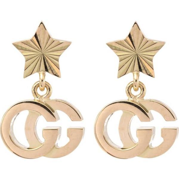 グッチ Gucci レディース イヤリング・ピアス ジュエリー・アクセサリー GG Running 18kt yellow gold earrings