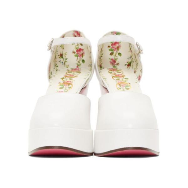 グッチ レディース ヒール シューズ・靴 White Agon Heels