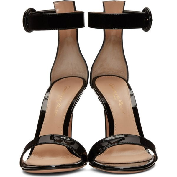 ジャンヴィト ロッシ Gianvito Rossi レディース サンダル・ミュール シューズ・靴 Black Patent Portofino Sandals