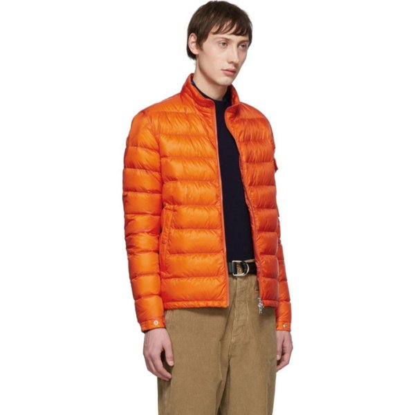 Moncler Orange Lambot Down Jacket
