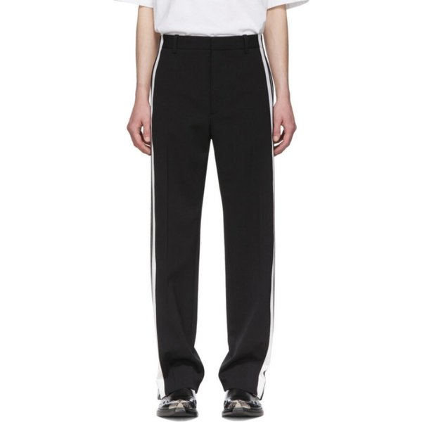 バレンシアガ Balenciaga メンズ ボトムス・パンツ Black & White Stretch Trousers|fermart3-store