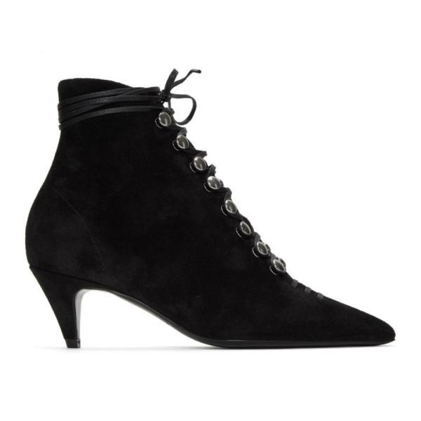 イヴ サンローラン Saint Laurent レディース ブーツ シューズ・靴 Black Lace Up Ally Boots