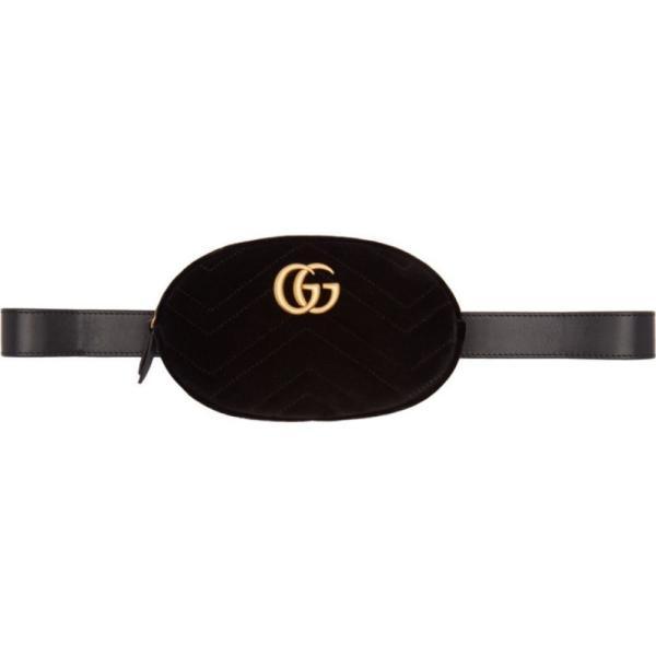グッチ Gucci レディース ボディバッグ・ウエストポーチ バッグ Black Velvet GG Marmont 2.0 Belt Bag