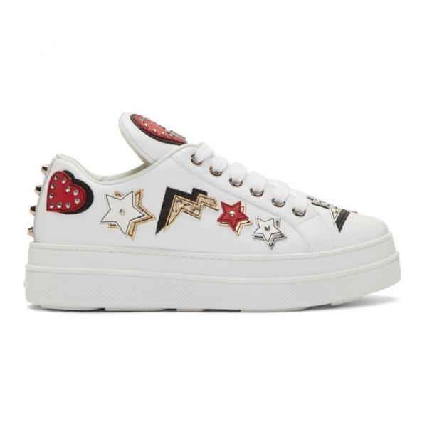 プラダ Prada レディース スニーカー シューズ・靴 White Robot Platform Sneakers