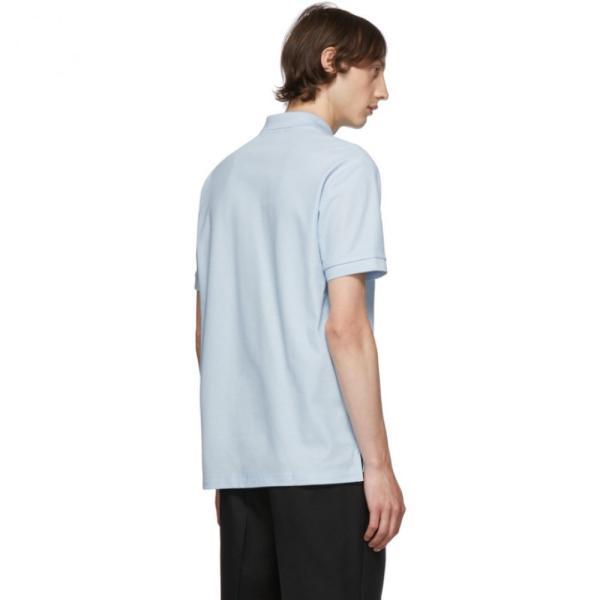 バーバリー Burberry メンズ ポロシャツ トップス Blue Eddie Monogram Polo Pale blue fermart3-store 03