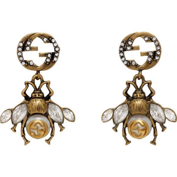 グッチ Gucci レディース イヤリング・ピアス ジュエリー・アクセサリー Gold Interlocking G Bee Earrings Gold