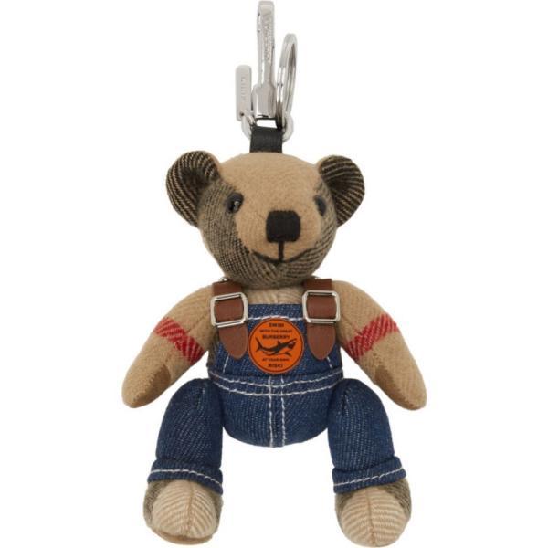 バーバリー Burberry レディース キーホルダー キーチェーン Beige Thomas Bear In Denim Keychain Archive beige
