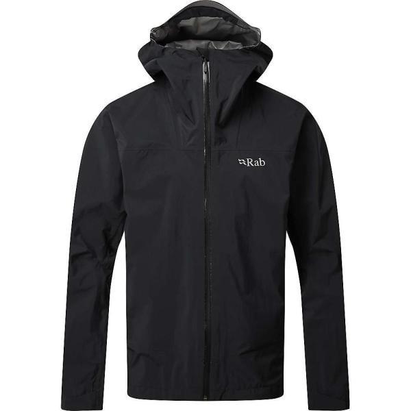 ラブ Rab メンズ レインコート アウター Meridian Jacket Black|fermart3-store|01