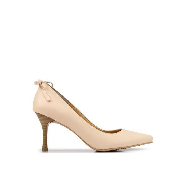ヒートウェーブ Heatwave レディース パンプス シューズ・靴 Back Bow Pumps Cream|fermart3-store