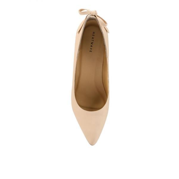 ヒートウェーブ Heatwave レディース パンプス シューズ・靴 Back Bow Pumps Cream|fermart3-store|04