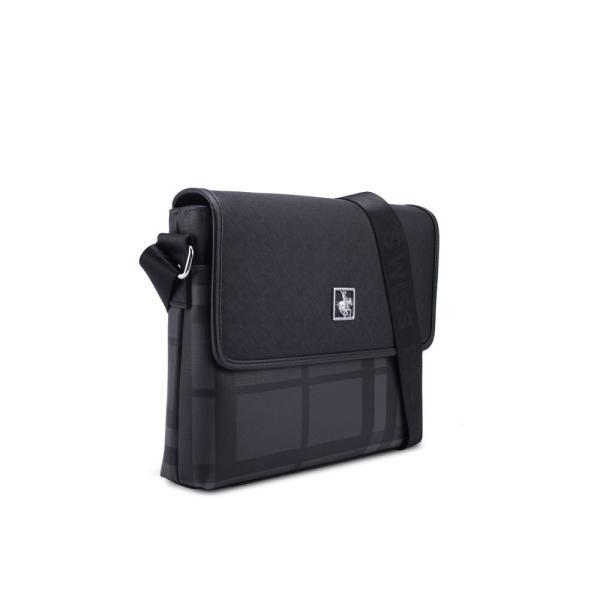 スイスポロ Swiss Polo メンズ メッセンジャーバッグ バッグ Sling Bag Grey