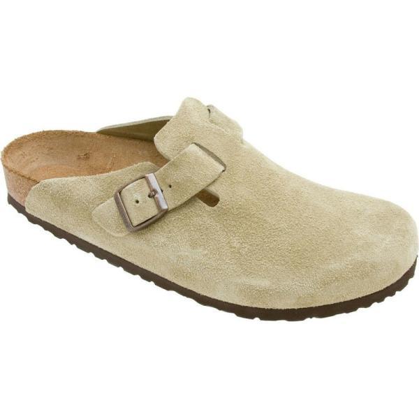 ビルケンシュトック レディース クロッグ シューズ・靴 Boston Suede Clog Taupe Suede