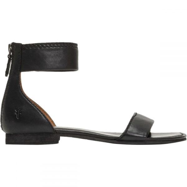 フライ レディース サンダル・ミュール シューズ・靴 Carson Ankle Zip Sandal Black|fermart3-store