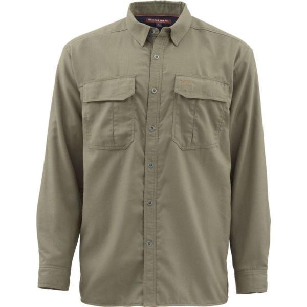 シムズ Simms メンズ シャツ トップス Cold Weather Shirt Dark Stone|fermart3-store