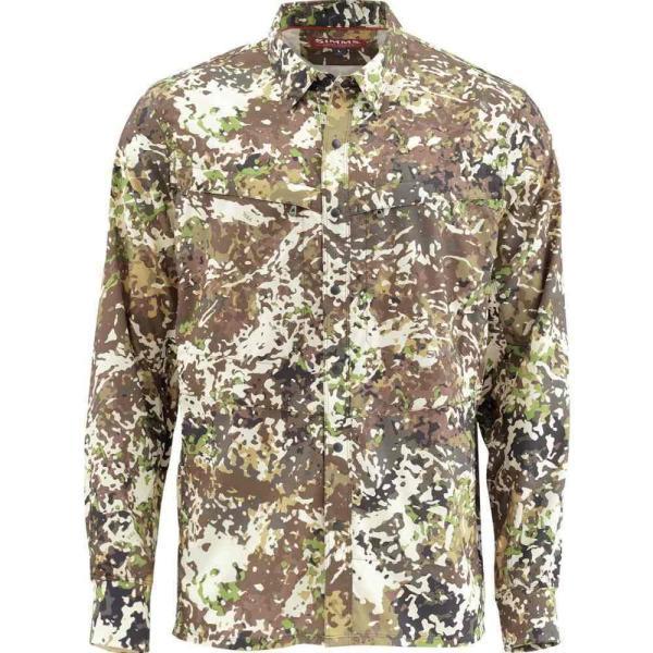 シムズ Simms メンズ シャツ トップス Intruder BiComp Shirt River Camo|fermart3-store